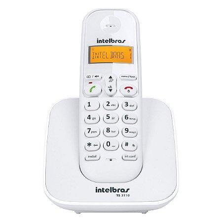 Telefone sem Fio Digital Intelbras com Identificador de Chamadas Branco