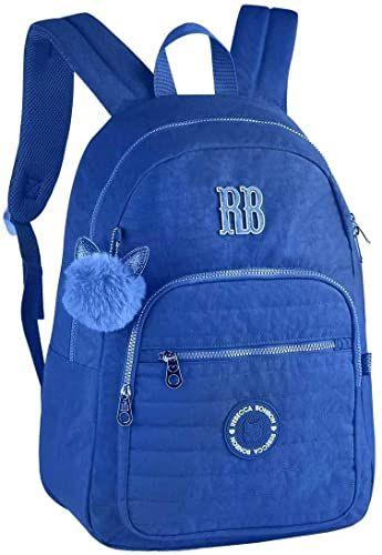 Mochila De Costas Notebook Rebecca Bonbon Crinkle-  Azul