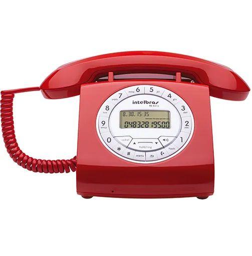 Telefone com Fio Intelbras TC8312 Vermelho