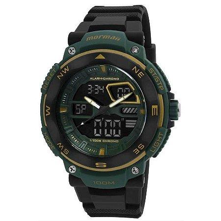 Relógio Mormaii Preto e Verde Masculino – MO13611N/8D