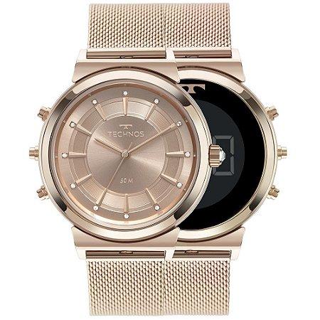 Relógio Technos Feminino Curvas 360° Rosé – 9T33AC/4J