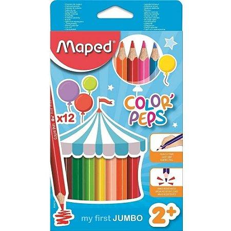 Lapís De Cor Color Peps Jumbo 12 Cores
