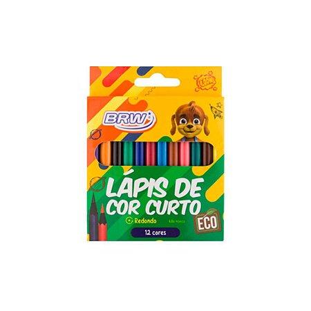 Lápis De Cor Curto C/12 Cores - BRW