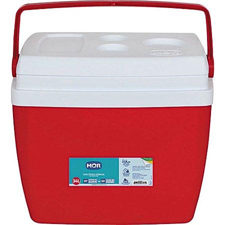 Caixa Térmica 34L Mor Vermelho