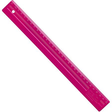 Régua em poliestireno 30 cm Rosa - Dello
