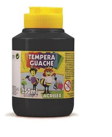 Tinta Guache Escolar Preto 250ml Acrilex