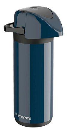 Garrafa térmica unitermi 1 litro azul de pressão