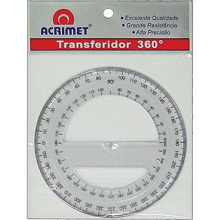 Transferidor em poliestireno 360º cristal