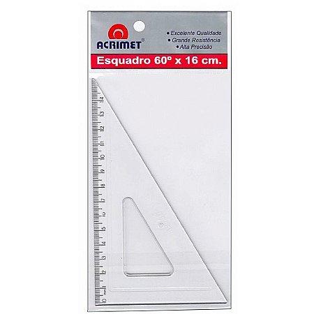 Esquadro poliestireno 60° X 16cm Acrimet
