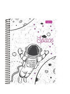 Caderno Universitário Space C /Divisoria 10 Materias 200 Folhas - Kajoma