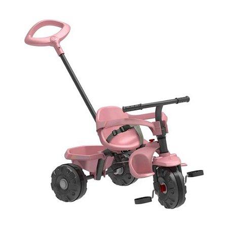 Carrinho de Passeio ou Pedal Bandeirante Triciclo Smart Plus - Rosa