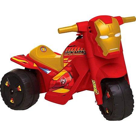 Moto Elétrica Infantil Bandeirante - EL 6V - Vingadores Homem de Ferro