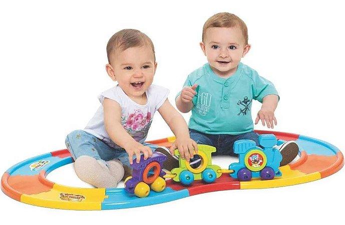 Babytrain Express 12 trilhos - Mercotoys