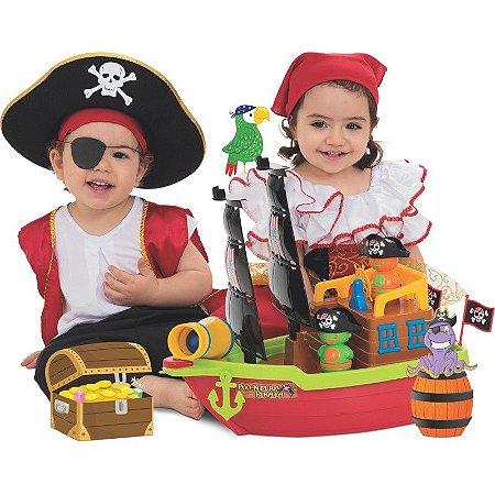 Barco Aventura Pirata S/ Caixa - Mercotoys