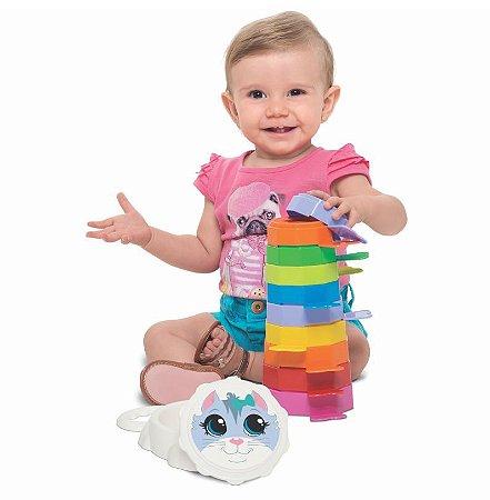 Empilha Baby Gatinho Com Caixa - Mercotoys