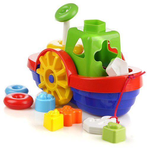 Brinquedo Educativo Barco Didático com Blocos e Ancora - Mercotoys