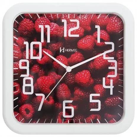 Relógio de parede analógico decorativo amora branco - Herweg