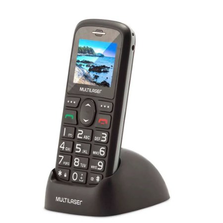 Celular Vita 3G, Dual Chip, 1.8, Radio FM, MP3, Preto - Multilaser