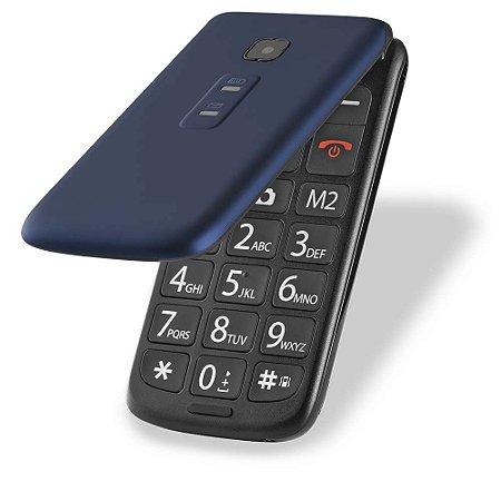 Celular Flip Vita Dual Chip Mp3 Azul - Multilaser
