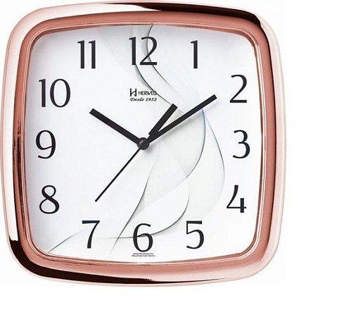 Relógio De Parede Análgico Mecanismo Herweg Rosê