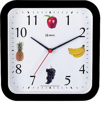 Relógio de Parede 23cm Quadrado Herweg