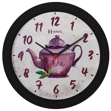 Relógio De Parede Analógico Bule Para Cozinha Herweg