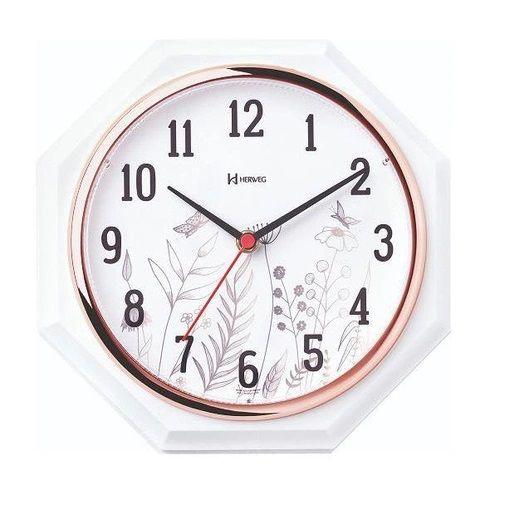 Relógio De Parede Decorativo Rosé 24 Cm Herweg