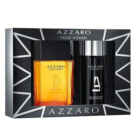 Kit Azzaro Pour Homme Masculino Edt 100Ml + Deodorant 150Ml