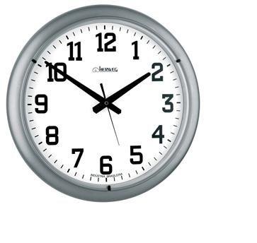 Relógio de Parede Quartz Herweg Prata Metalico