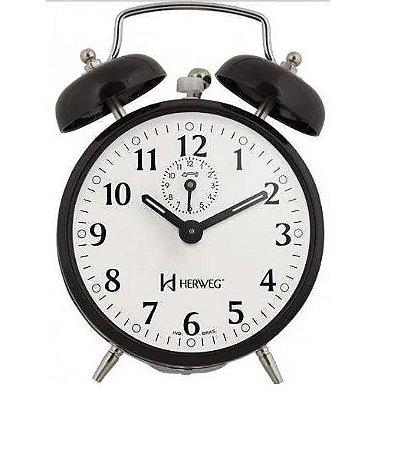 Despertador Herweg Preto Relógio
