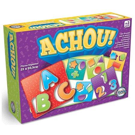 Jogo De Encaixe Achou Toia Brinquedos 06 Placas Gigantes
