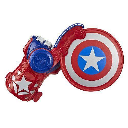 Vingadores Capitão America Luva Mão Lançador Escudo Nerf Hasbro