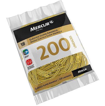 Elástico super amarelo n.18 c/ 200 unidades