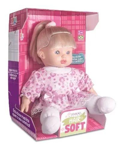 Boneca Coleção Hair Soft Branca Milk Brinquedos