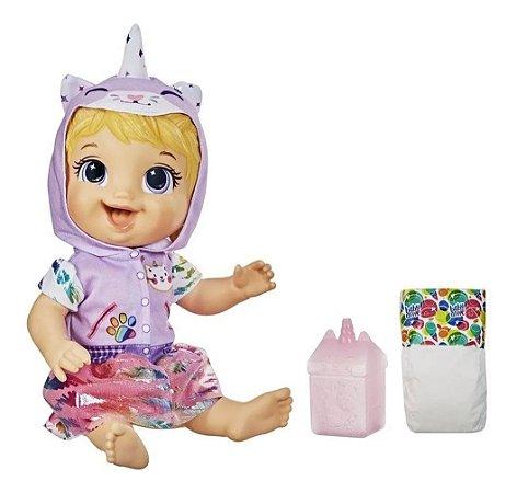 Boneca Baby Alive Tinycorn Bebê Unicórnio gatinha Loira Hasbro