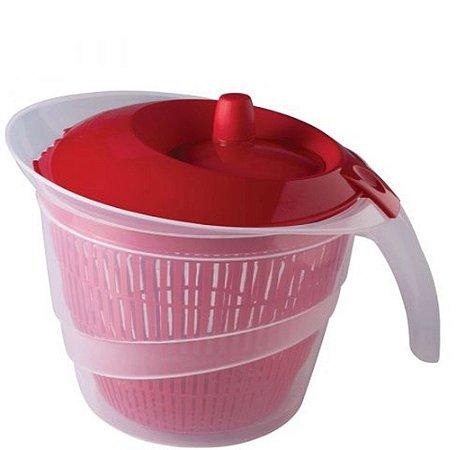 Secador de saladas 2,8 litros vermelho Plasutil