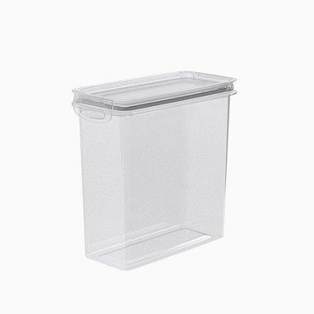 Porta Mantimentos Pote Tampa Trava Transparente Plástico 2,8L - Plasutil