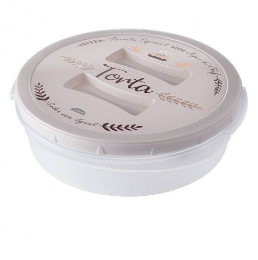 Torteira de Plástico 4,9 L com Tampa Rosca Café da Manhã Retrô