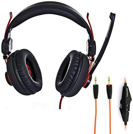 Headset Gamer Drivers Preto/laranja - Hoopson Ga-x3