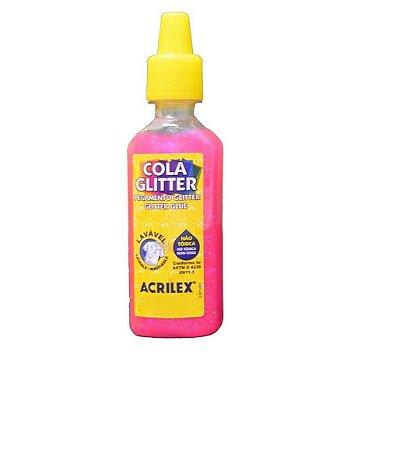 Cola Glitter Acrilex 35G Cor Rosa