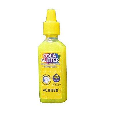Cola Glitter Acrilex 35G Cor Amarelo Limão