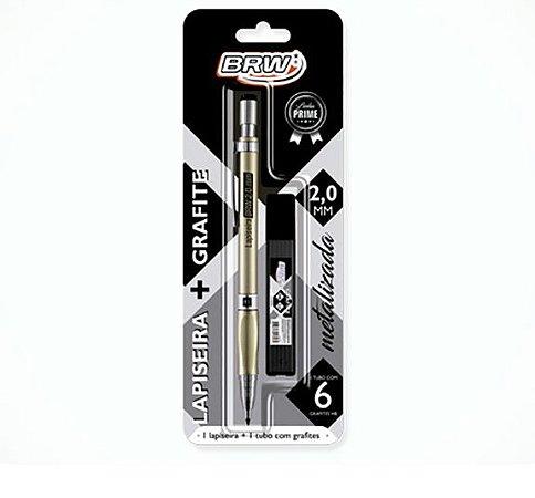 Lapiseira Dourada Metalizada 2.0mm com grafite - Brw