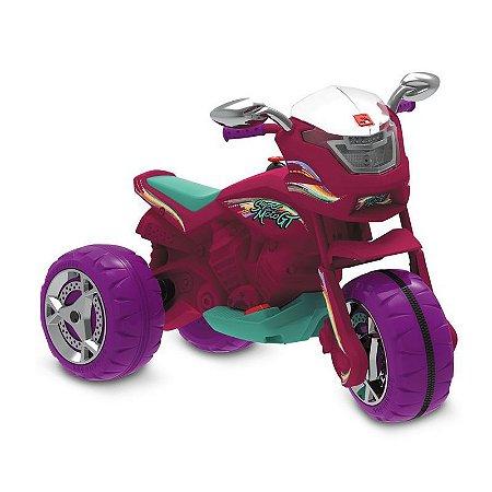 Triciclo Elétrico - 6V - Super Moto GT - Pink - Bandeirante
