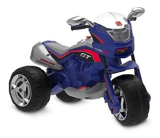 Moto Elétrica Infantil 12V GT Turbo-Bandeirante - Azul