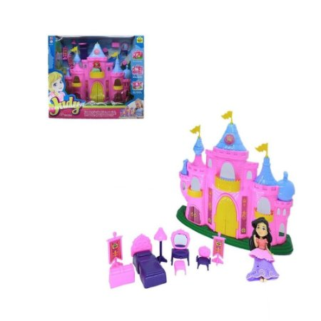 Castelo da Princesa Judy com Boneca e Acessórios para Crianças – Samba Toys