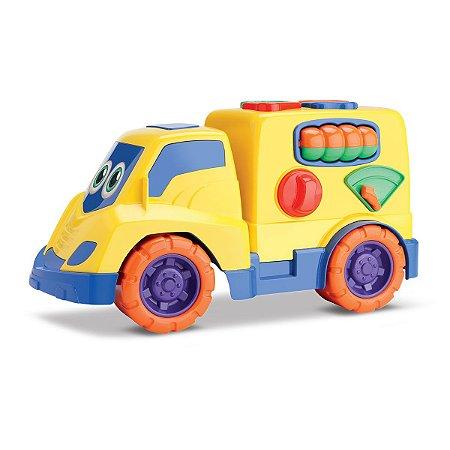 Caminhão Pedagógico Atividades Tchuco Baby Encaixes - Samba Toys