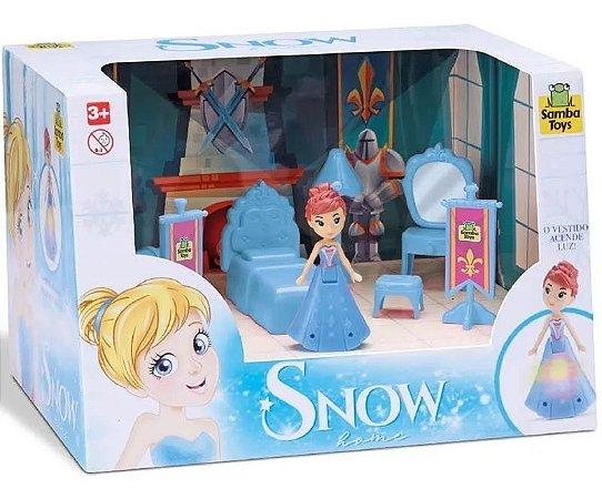 Judy Home Quarto Princesa Snow Com Boneca Samba Toys