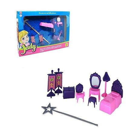 Quarto de Princesa para Boneca com Acessórios e 01 Cetro – Judy Home  Samba Toys