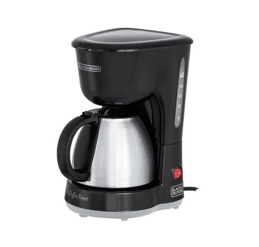 Cafeteira Elétrica 600w 18 cafés Jarra Inox 127V Black Decker - CM15