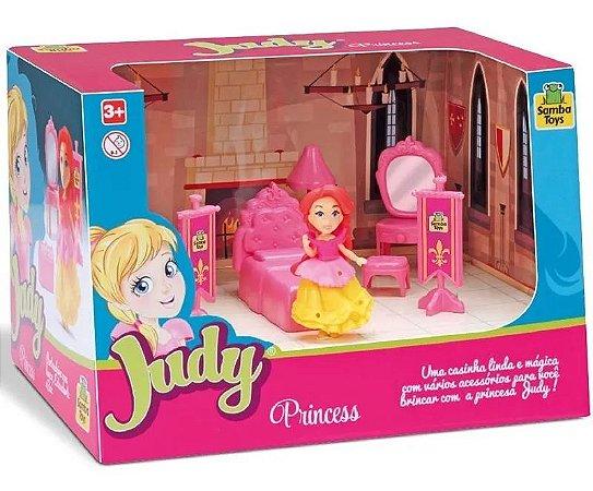 Brinquedo Judy Home Quarto Princesa Com Boneca - Samba Toys